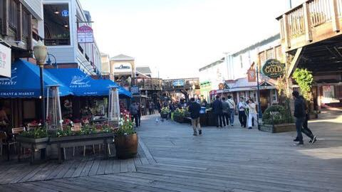 Fisherman's wharf boardwalk
